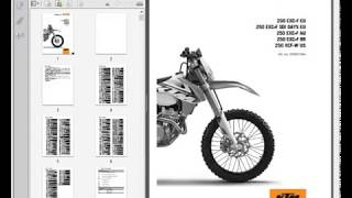 ktm 250 exc-f xcf-w (2015) - service manual - wiring diagram - youtube  youtube