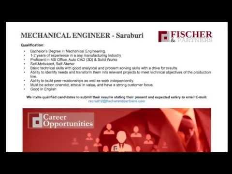 Fischer & Partners Recruitment Agency - Bangkok, Thailand -  MECHANICAL ENGINEER