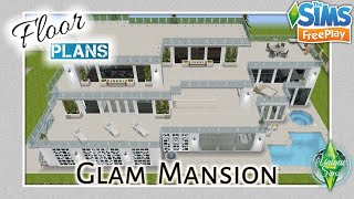 The Sims Freeplay Glam Mansion ~FLOOR PLANS《🛠️》Let s Build YouTube