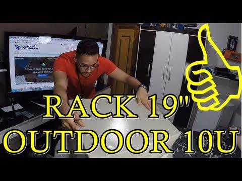 RACK 19'' OUTDOOR 10U TELECOM PROVEDOR EXTERNO POSTE