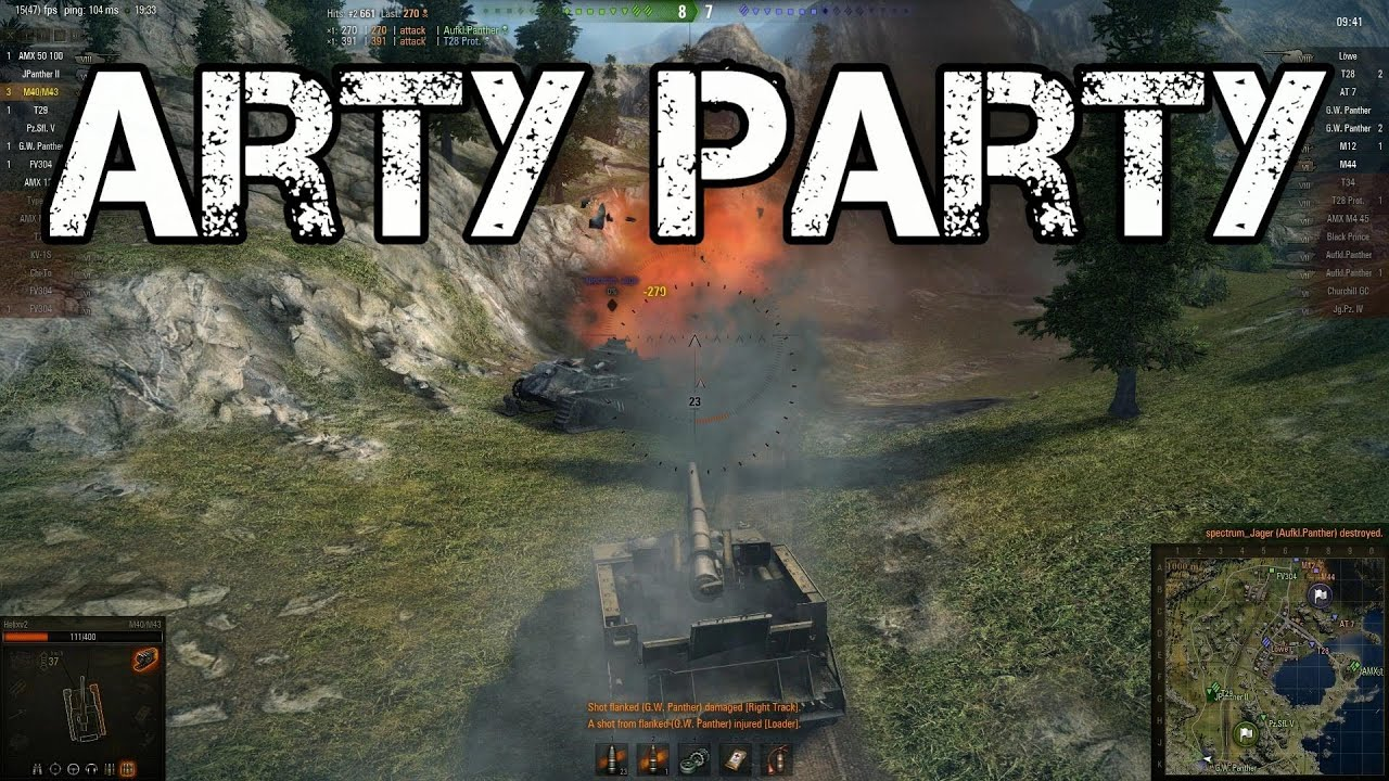 Drive A Tank >> World of Tanks - Arty Party - YouTube