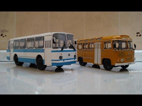 Обзор Р/У автобуса ЛАЗ 695Н + первая серия ПАЗ 672М