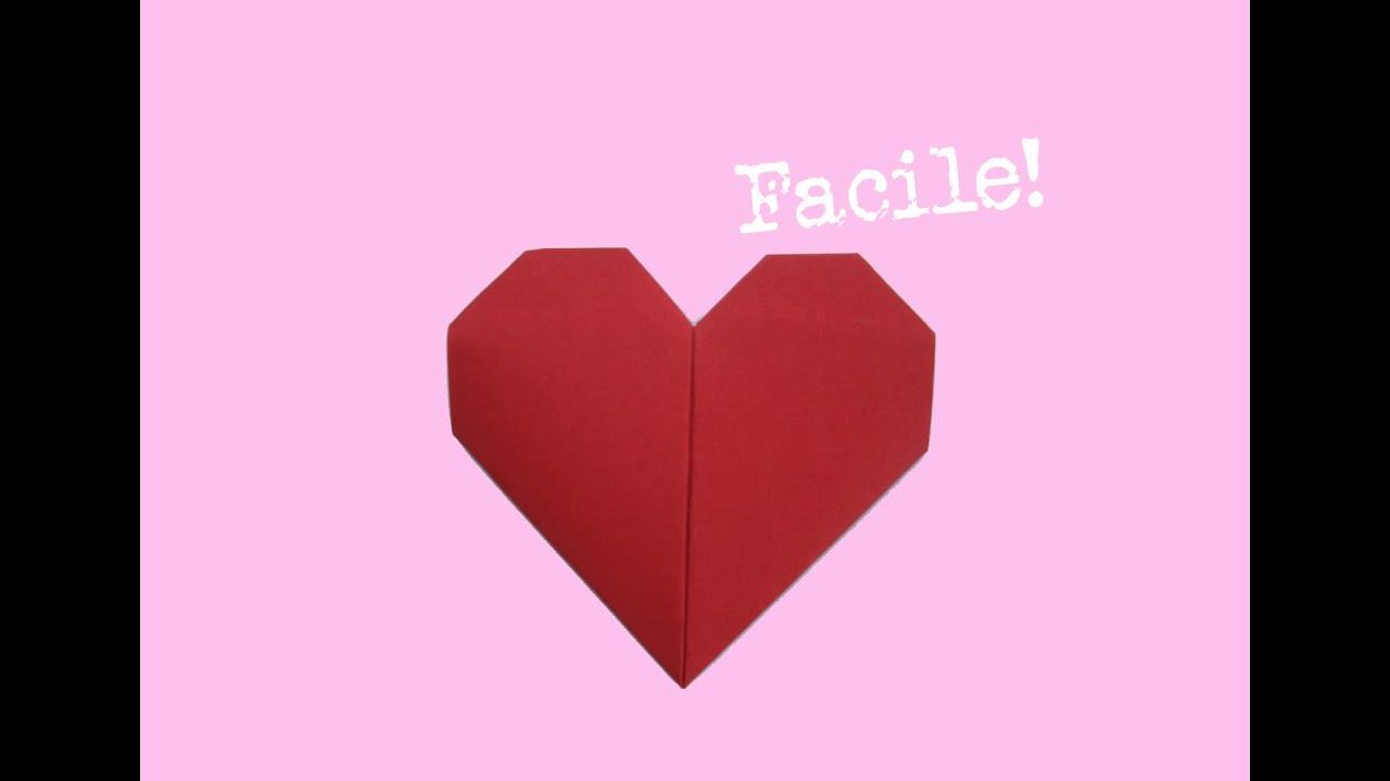 Pliage coeur en papier d 39 origami facile explication lentement youtube - Origami facile et rapide ...