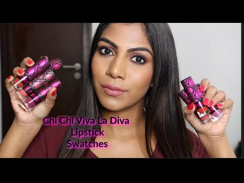chi-chi-cosmetics-viva-la-diva-lipstick-swatches-♡-10-shades-lip-swatches-brown-skin-|-shuanabeauty