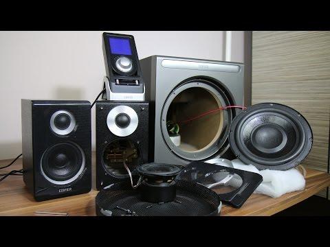 Edifier X600 Black 2.1 распаковка + тест [HD] - YouTube