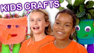 Make Silly Monster Flower Pots! | KIDS CRAFTS | Universal Kids