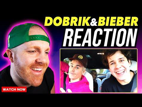 david-dobrik-surprising-fans-with-justin-bieber-in-tesla!-(reaction)- -vlog-squad- -@bigrobenergy