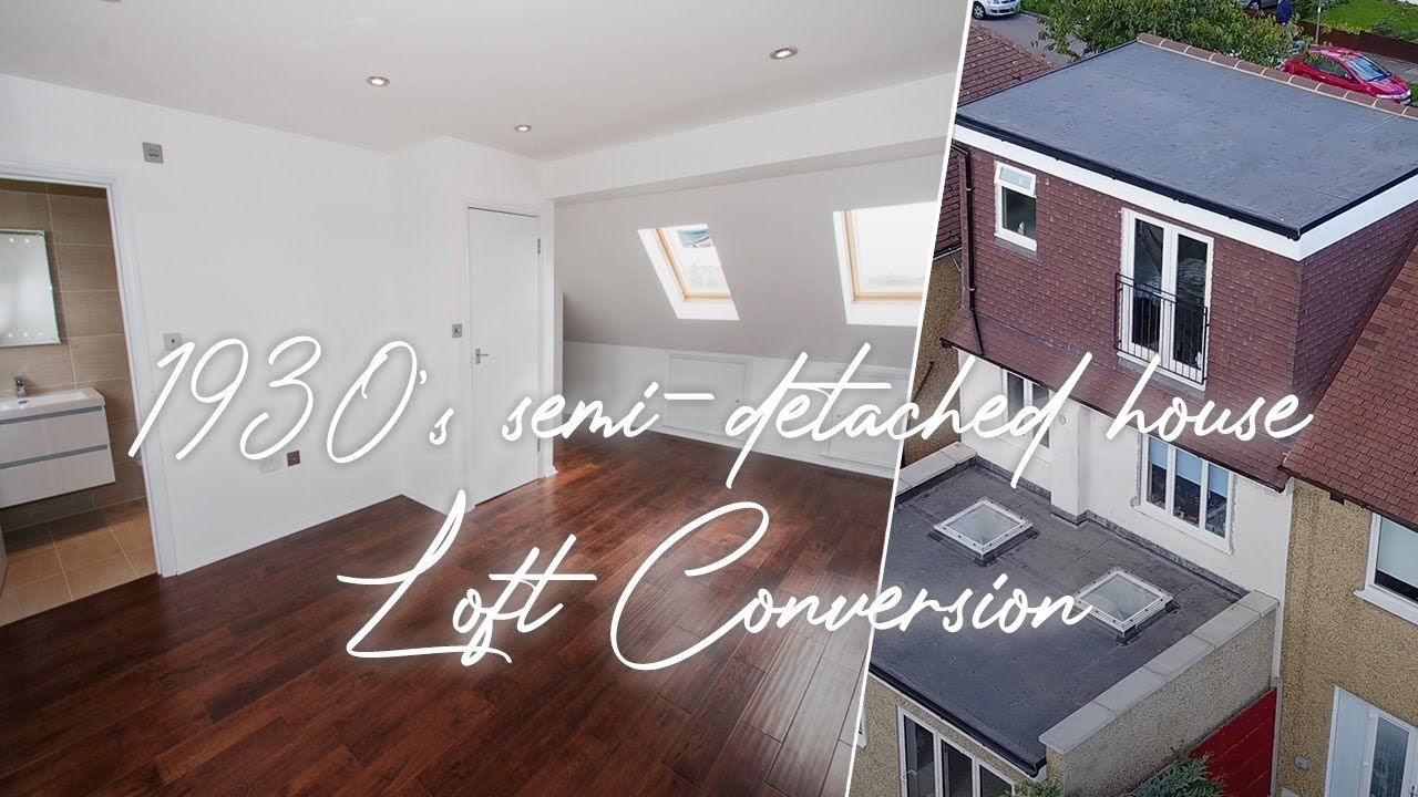 Loft Conversion Hit To Gable 1930 S Semi Detached House Youtube