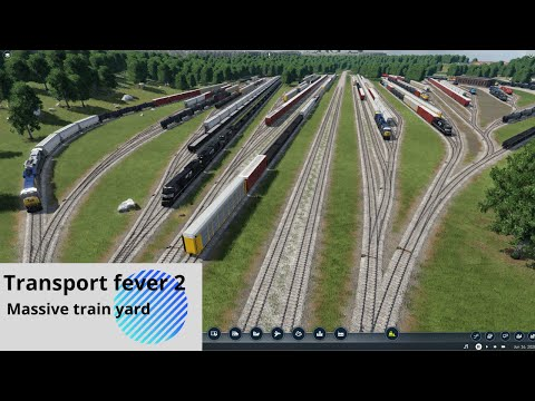 Transport fever 2 - building the rail layout of a massive freight yard |