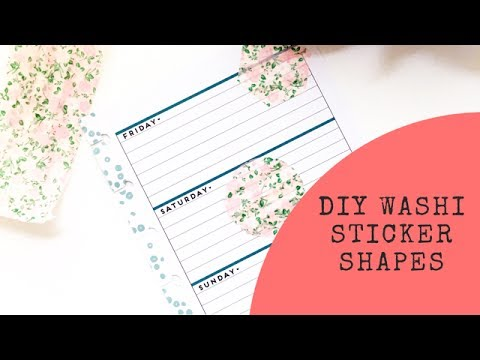 DIY Washi Sticker Shapes