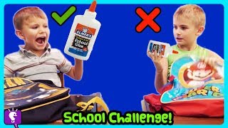 MYSTERY BOX SWITCH Up Challenge with Backpacks by HobbyKidsTV!