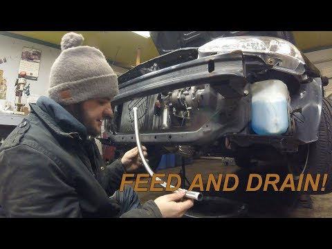 How To Turbo Your Honda With Ebay Parts. Oil Feed And Drain Lines Installed! Turbo Type R EK Hatch