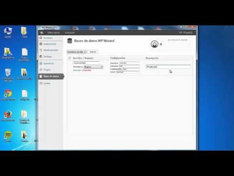 Cómo crear una base de datos en WP Wizard 2