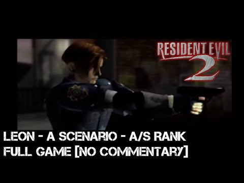 Resident Evil 2 Walkthrough Leon A Scenario - Original Mode - Normal - A/S Rank (HD)