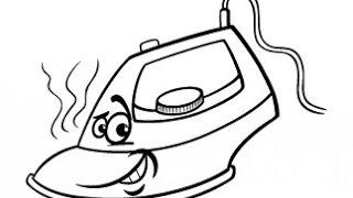 как нарисовать утюг,how to draw iron,cmo dibujar hierro,comment dessiner fer