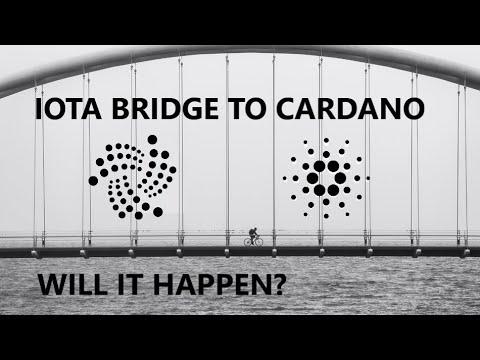 NEW: IOTA to CARDANO BRIDGE BEING EXPLORED