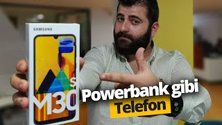 Powerbank gibi telefon Samsung Galaxy M30s Kutudan Çıkıyor