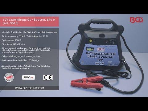 12V Starthilfegerät / Booster, 840 A (Art. 9613)