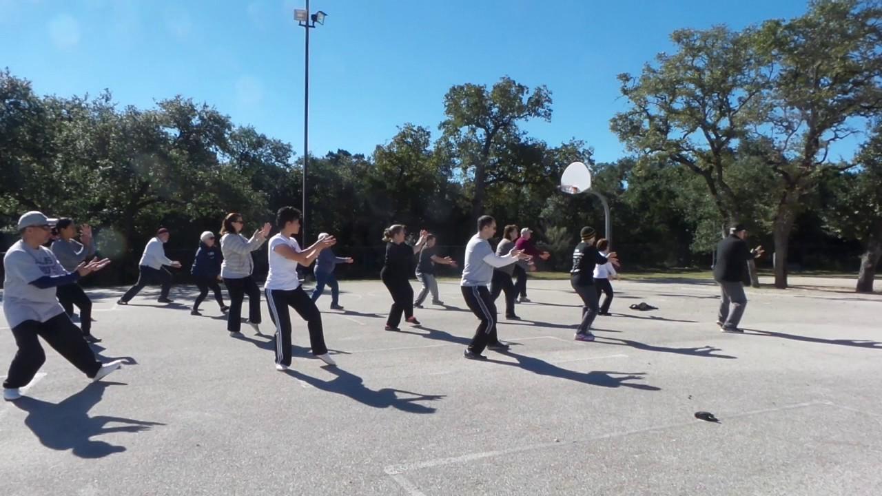 San Antonio Taichitoday Group Morning Practice Chen 18 Form - YouTube