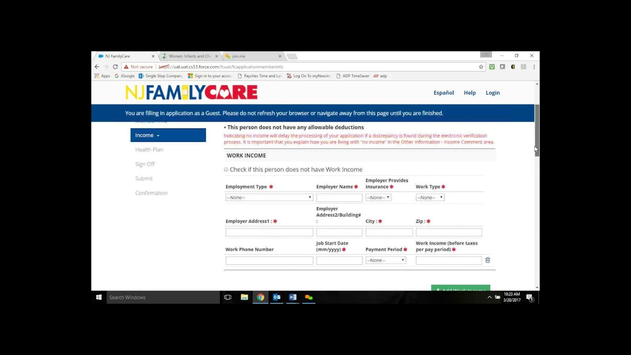 NJ Family Care Walkthrough - YouTube