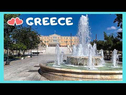 GREECE: Historic SYNTAGMA (CONSTITUTION) SQUARE, centre of ATHENS