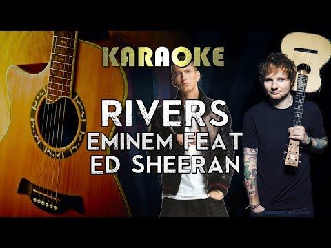 Eminem - River Ft. Ed Sheeran | Acoustic Guitar Karaoke Instrumental Lyrics Cover Sing Along