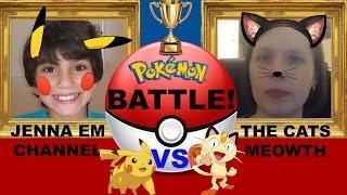 Jenna Em VS TheCatsMeowth! Pokemon Ho-oh & Lugia BREAK Evolution Box!
