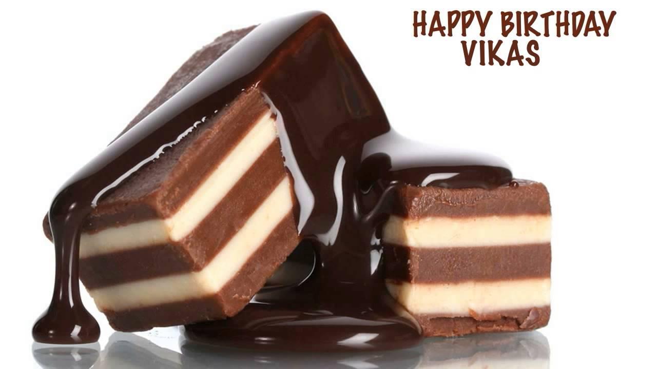 Birthday Cakes With Name Vikas ~ Vikas chocolate happy birthday youtube