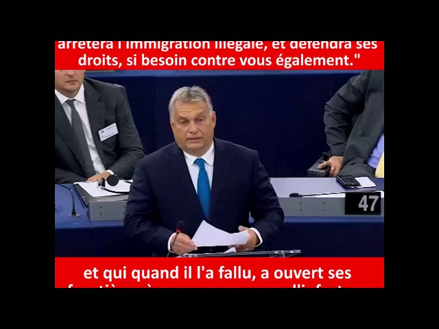Viktor Orbán défend la Hongrie face au rapport Sargentini