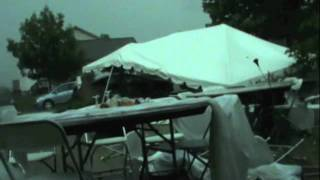 Tornado destroys wedding reception in Crown Point, Indiana on June 4, 2011