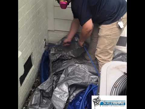 Dryer Vent Cleaning by Southeast Clean Air Solutions - HUGE BLOCKAGE REMOVED!! Richmond, Virginia