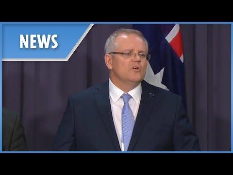 New Australian PM Scott Morrison gives his first address