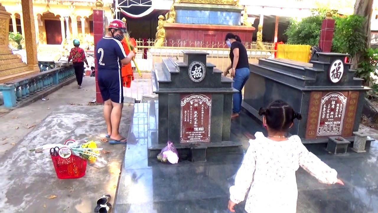 Lễ Thanh minh tại nghĩa trang nhân dân năm nay vắng vẻ lạ thường – Tri Tôn, An Giang 04/04/2020
