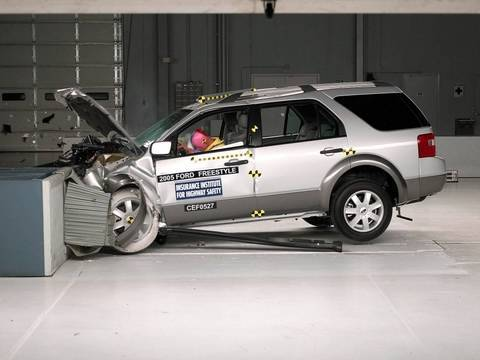 2005 Ford Freestyle Moderate Overlap Iihs Crash Test Youtube