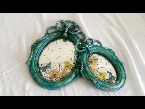 Glass Painting And Decoupage On Glass - How To DIY Antique Mirror