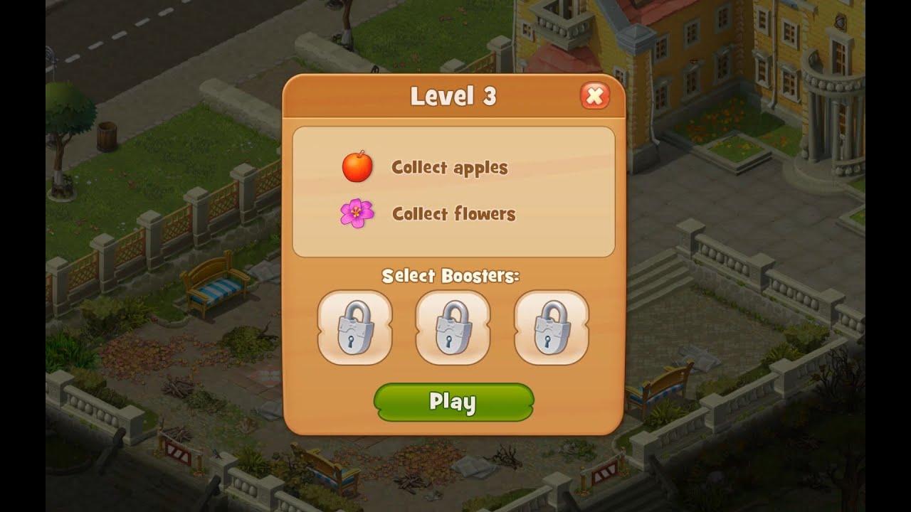 Gardenscapes Level 3 HD 1080p