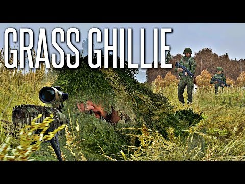 ALMOST STEPPED ON - ArmA 3 Grass Ghillie Gameplay