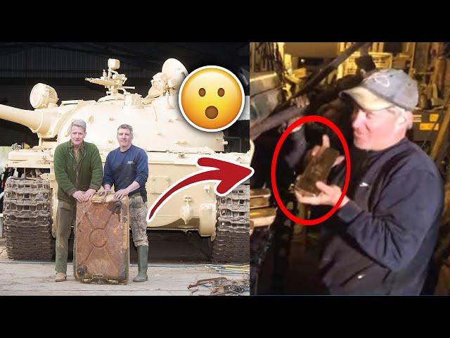 رجل اشترى دبابة  ولن تتخيل ما وجده داخلها