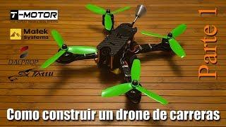 Como construir drone de carreras en Español. Parte 1: Motores, variadores y PDB