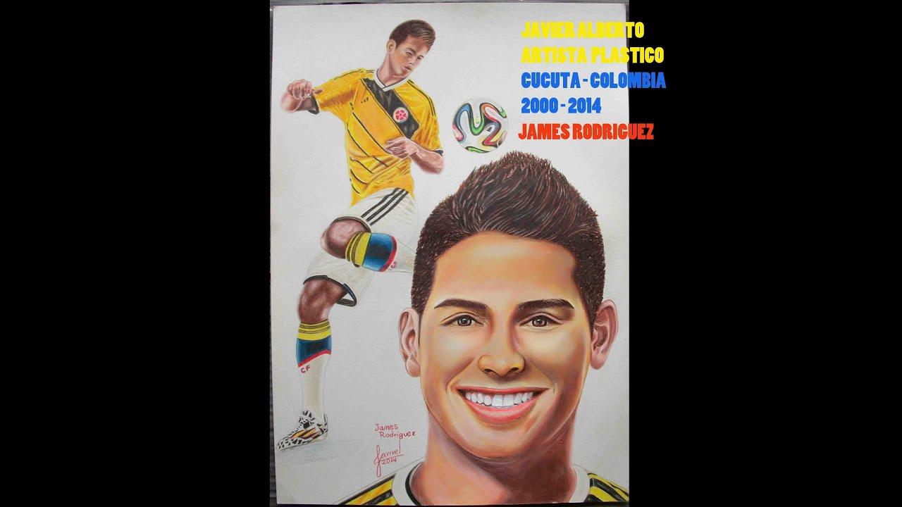 James Rodriguez Futbolista Colombiano Dibujo A Lapices De