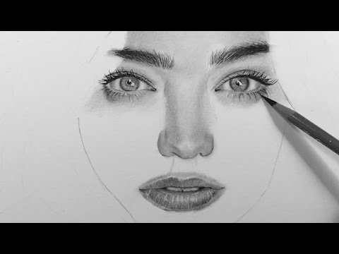 drawing a realistic portrait with charcoal youtube