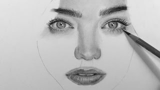 Drawing a Realistic Portrait with Charcoal