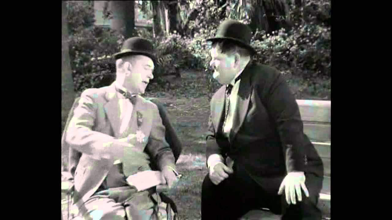 0da70372 Laurel and Hardy: Why didn't you tell me you had 2 legs - YouTube