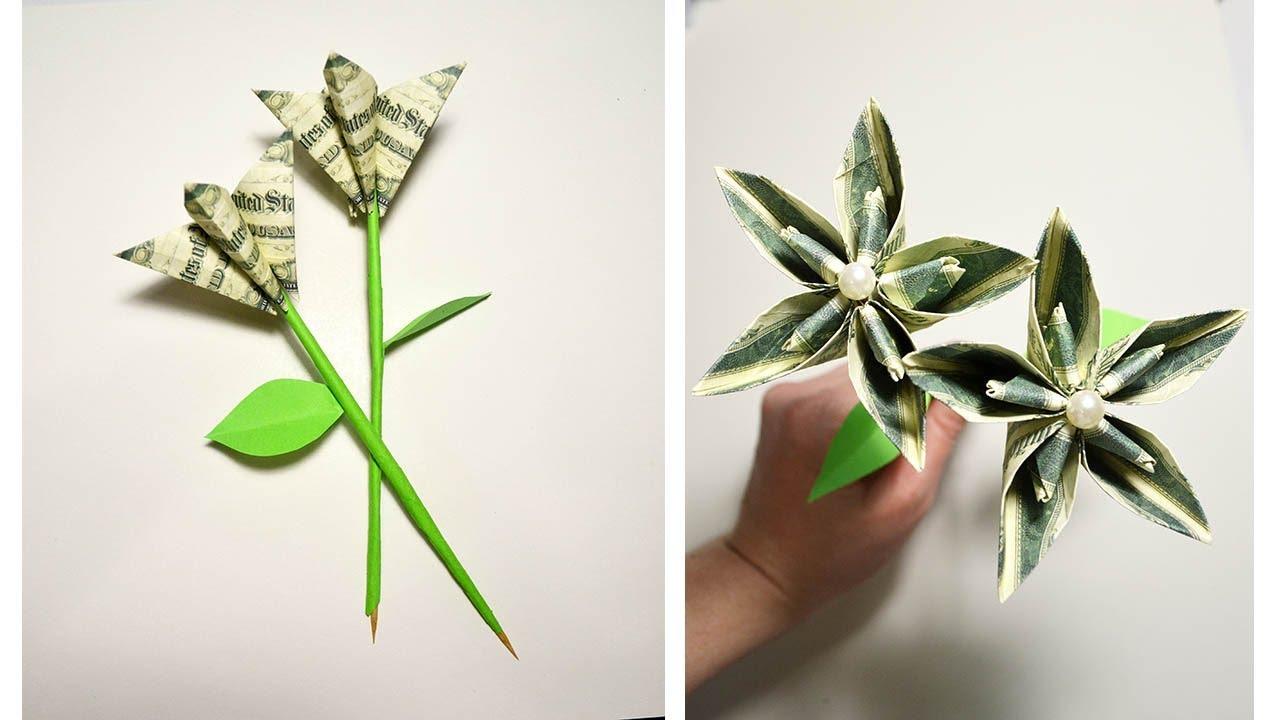Gift for Valentine's day Money Flower Origami Tutorial DIY ...