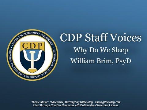 CDP Podcast Why Do We Sleep