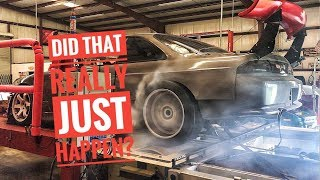 S14 240sx Big Turbo 5.3 Dyno with a surprising ending