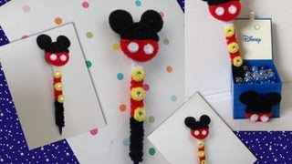 Repeat youtube video PLUMA DE MICKEY  MOUSE ADORNADA CON LIMPIA PIPAS-. PIPE CLEANERS ICKEY MOUSE PEN