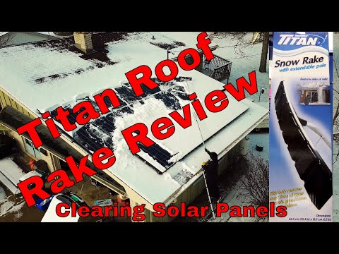 Titan Adjustable Roof Snow Rake Review Clearing Solar Panels