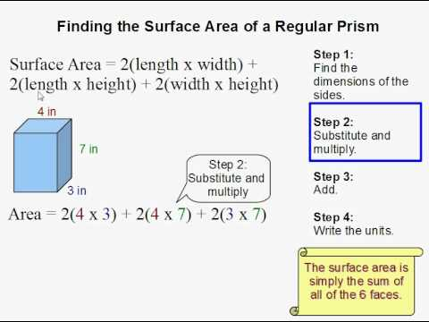 How to Find the Surface Area of a Rectangular Prism  YouTube
