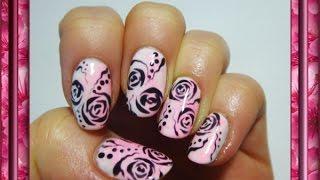 """Дизайн ногтей гель лаками """"Розы"""""""